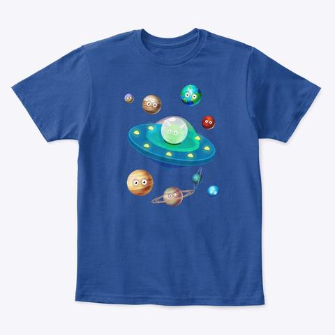Ufo De Alien Deep Royal  T-Shirt Front