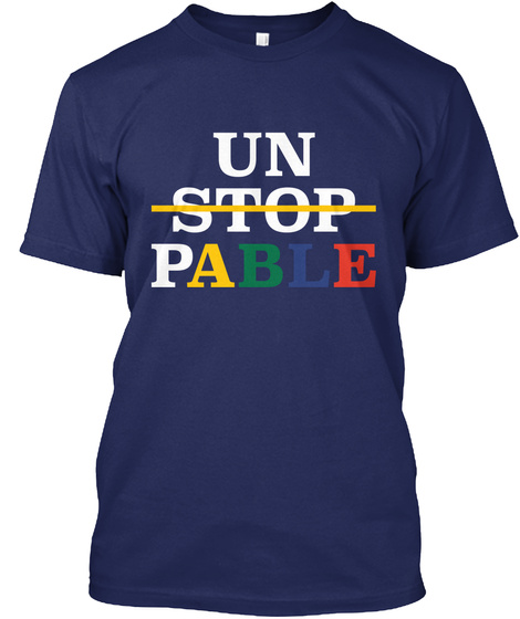 Who Gon Stop Me Huh?? Midnight Navy T-Shirt Front