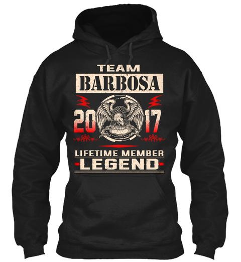 Team Barbosa 2017 Black T-Shirt Front