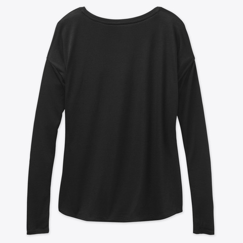 Women Power Tshirt Black Long Sleeve T-Shirt Back