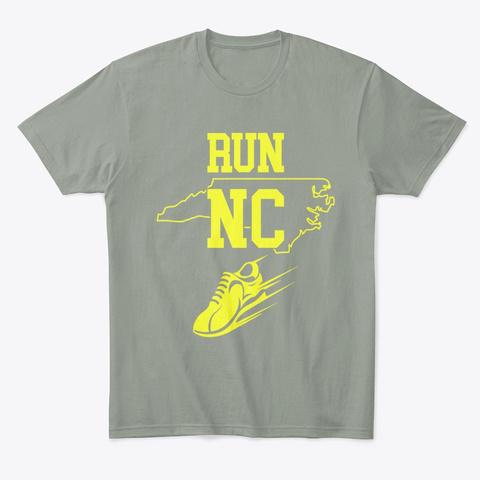 Running Design Run North Carolina Grey T-Shirt Front