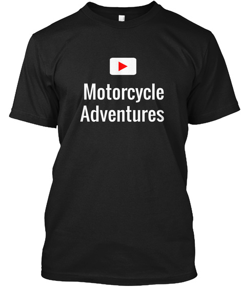 Motorcycle Adventures Black T-Shirt Front