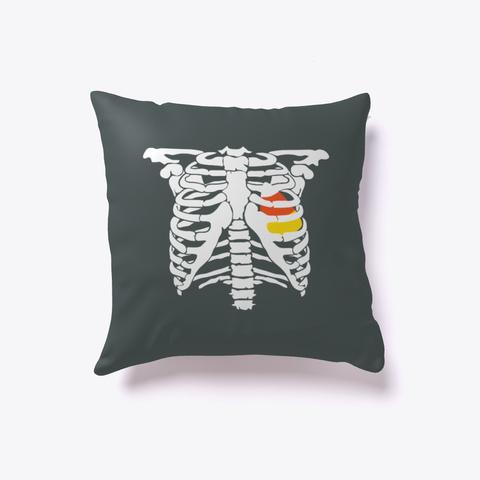 Funny Candy Corn Heart  Pillow Dark Grey T-Shirt Front