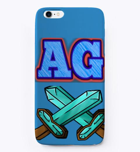Advanced Gamer's I Phone Case Denim Blue T-Shirt Front