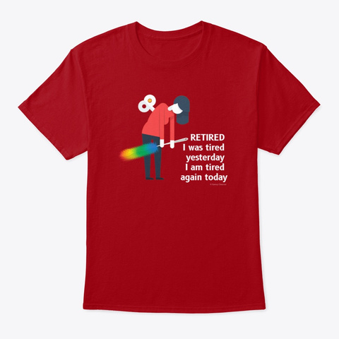 Retired Housekeeping Lady Cleaning Gifts Deep Red T-Shirt Front