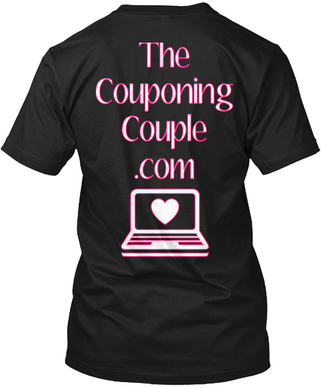 The Couponing Couple .Com Black T-Shirt Back