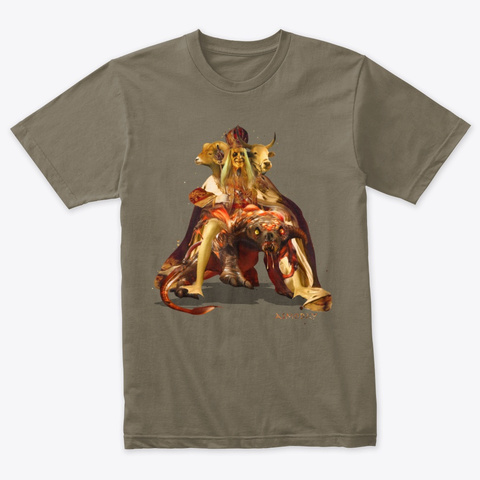Asmoday The Great Demon  Venetian Gray T-Shirt Front
