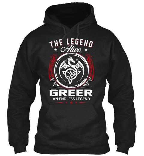 The Legend Alive Greer An Endless Legend Black T-Shirt Front