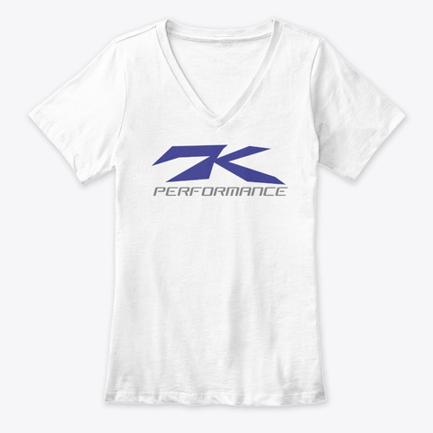 7 K Performance White T-Shirt Front