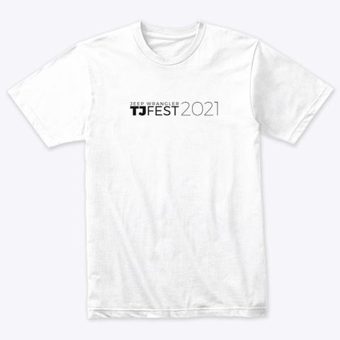 Tj Fest 2021 Apparel Heather White T-Shirt Front