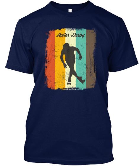 Roller Derby Navy T-Shirt Front