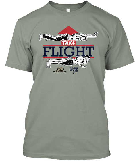 Take Flight Ad Workout The Shock Grey T-Shirt Front