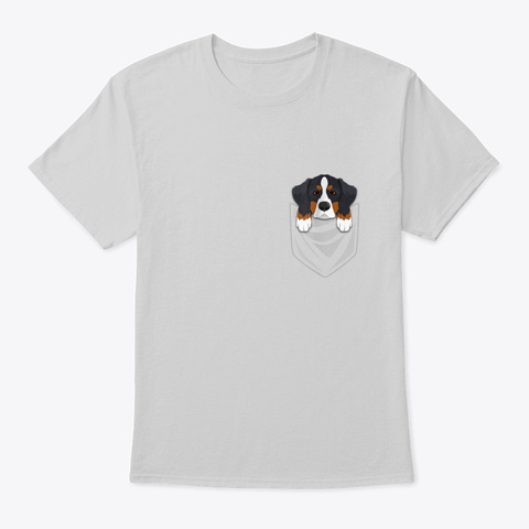 Bernese Mountain Dog Pocket Light Steel T-Shirt Front