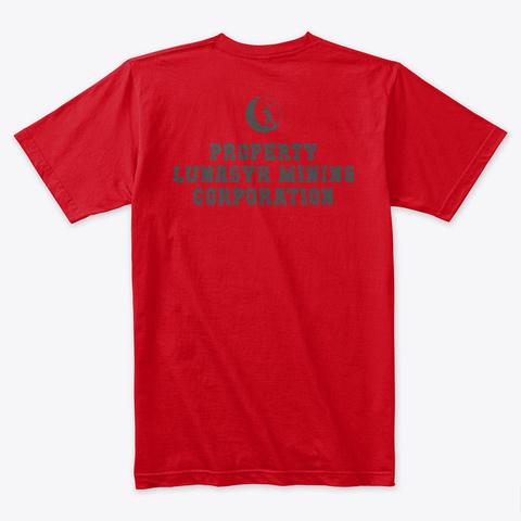 Mint Tin Luna Syr   Ing Art Red T-Shirt Back