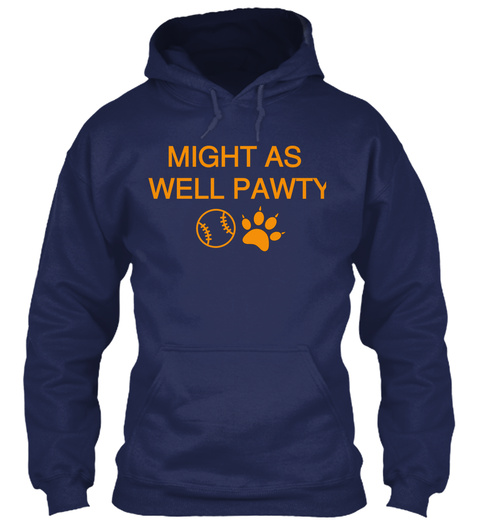 Might As Well Pawty Navy T-Shirt Front