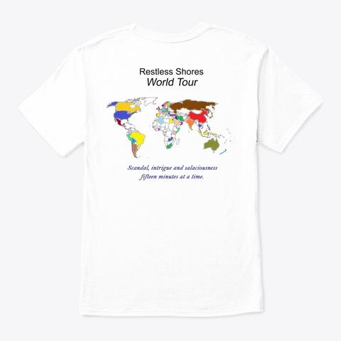 Restless Shores World Tour White T-Shirt Back