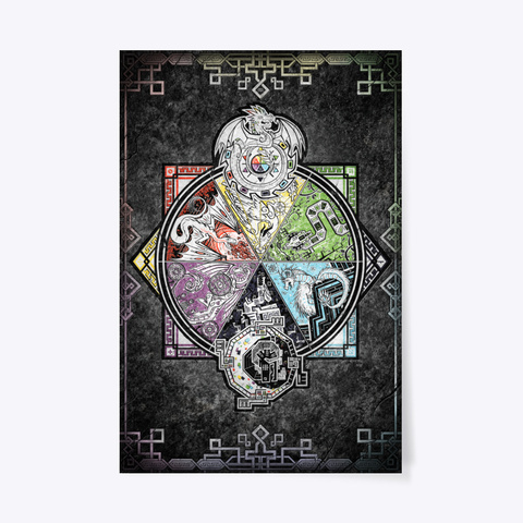 U Realms   Dragon Aspects Poster! Standard T-Shirt Front