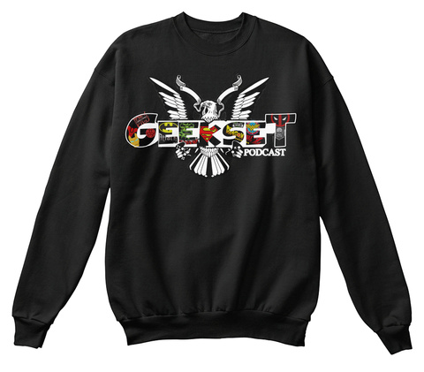 Geekset Logo Crewneck Sweatshirt Black Sweatshirt Front