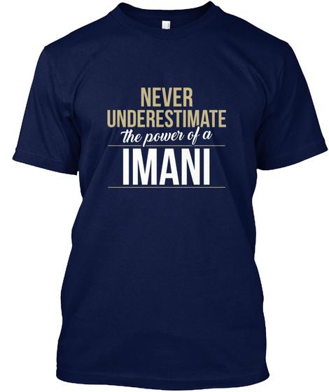 Imani   Never Underestimate A Imani Navy T-Shirt Front