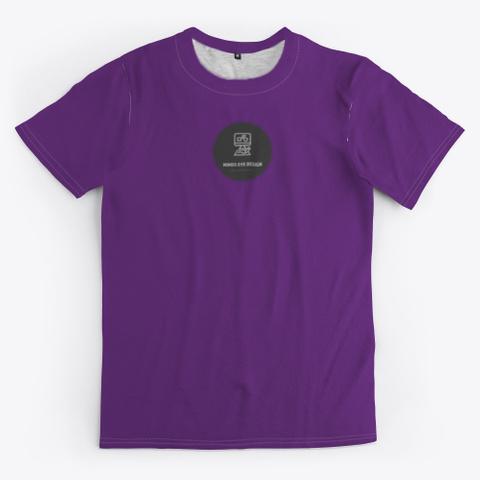 Minds Eye In Gear V2 Unisex Teeshirt Purple T-Shirt Front