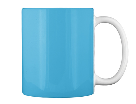 Hex R Mug Lt Blue Mug Back