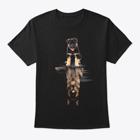 German Shepherd 2 Black T-Shirt Front