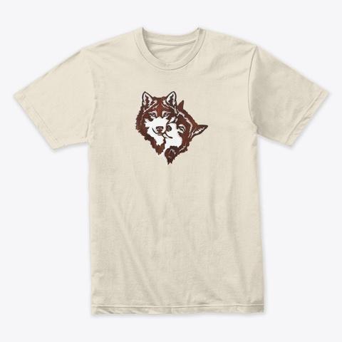 Wolf Animal Love Cream T-Shirt Front