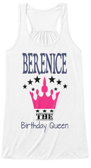 Berenice The Birthday Queen White Women's Tank Top Front