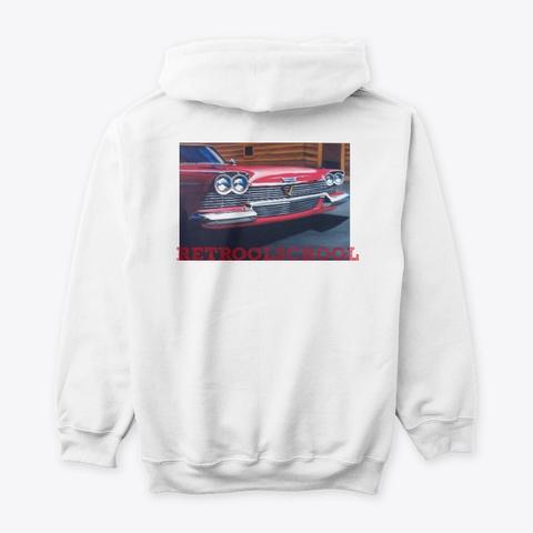 Retroolscool '58 Plymouth Art White T-Shirt Back