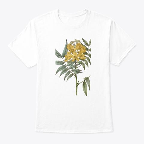 Botanical Retro Botanical  White T-Shirt Front