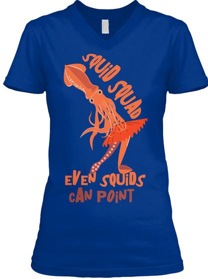 Ballerina Squid   True Royal T-Shirt Front