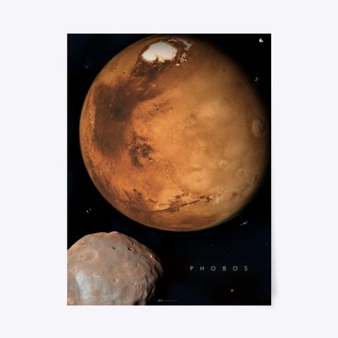 Phobos / Solar System Series Black T-Shirt Front