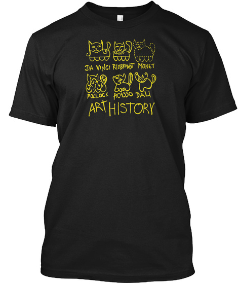 Art History Limited Edition Black T-Shirt Front