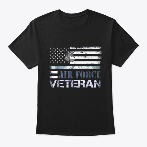 Us Air Force Veteran T Shirt American Black T-Shirt Front