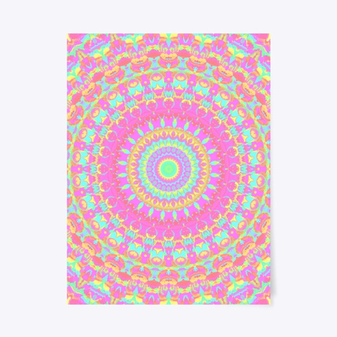 Neon Groovy Colorful Mandala  Standard T-Shirt Front
