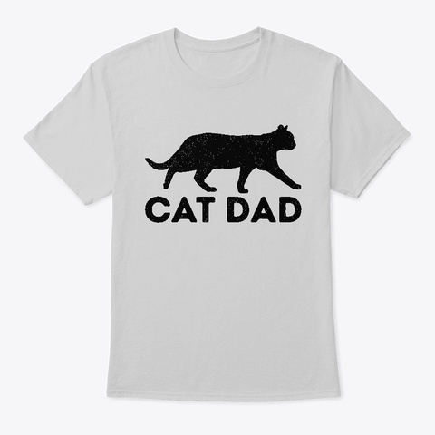 Collie Dad Cute Dog Puppy Funny Father's Light Steel T-Shirt Front