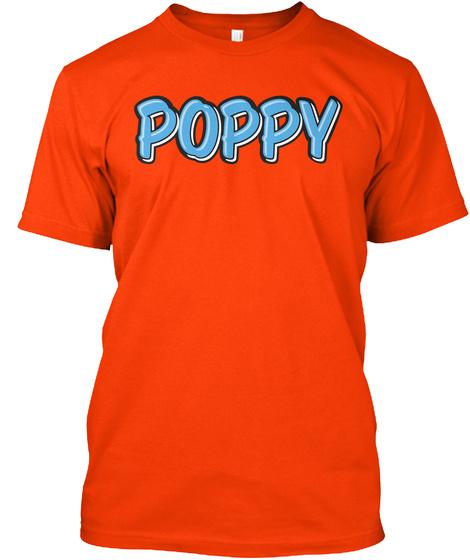 Poppy Orange T-Shirt Front