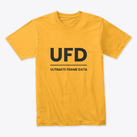 Ultimate Frame Data T Shirt Gold T-Shirt Front