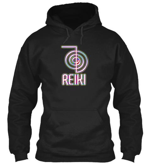 Reiki Symbol T Shirt, Meditation Tshirts Black T-Shirt Front