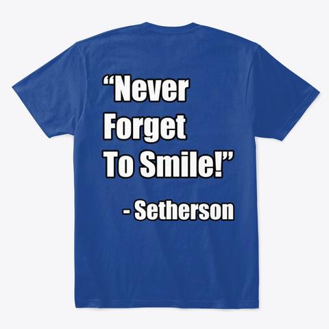 "Setherson ""Howdy Pals"" Merch Deep Royal T-Shirt Back"