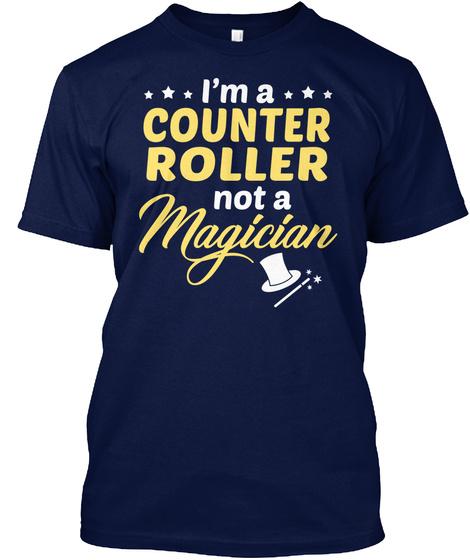 Counter Roller   Not Magician Navy T-Shirt Front