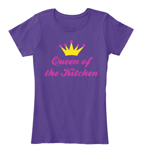 Queen Of The Kitchen Purple T-Shirt Front