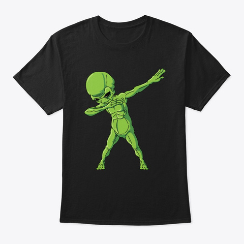 Dabbing Alien Halloween Costume Dab Black T-Shirt Front