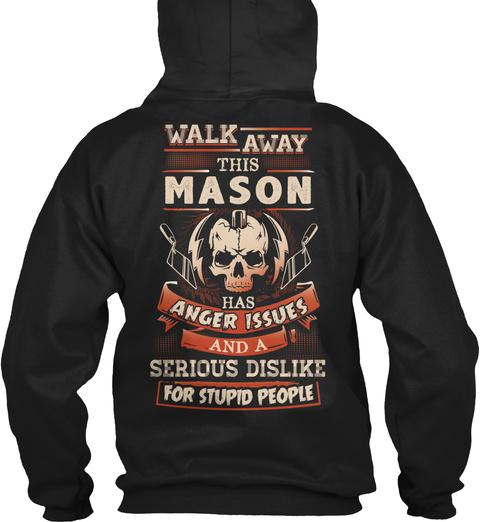 Sarcastic Mason Shirt Black T-Shirt Back