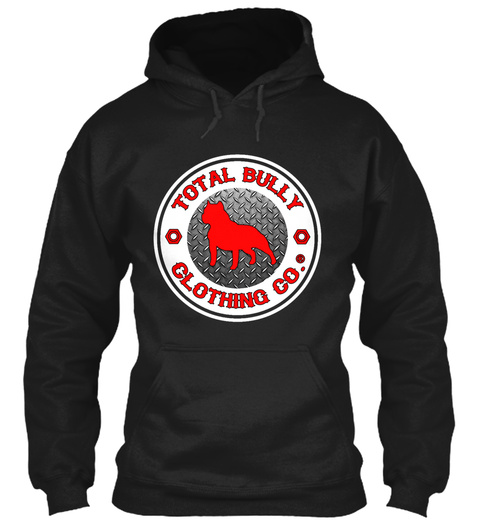 Total Bully   Red Logo Hoodie Black T-Shirt Front