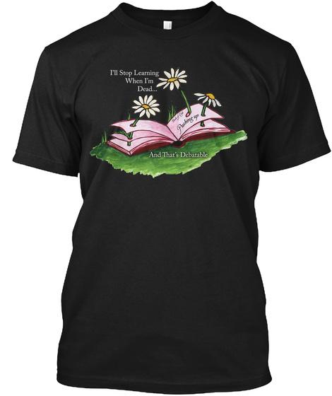 Pushing Up Daisies Black T-Shirt Front
