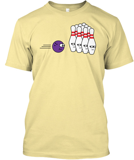 Bowling Guys Banana Cream T-Shirt Front