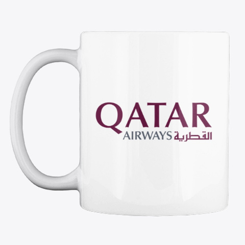 Qatar Airways   Mug White T-Shirt Front