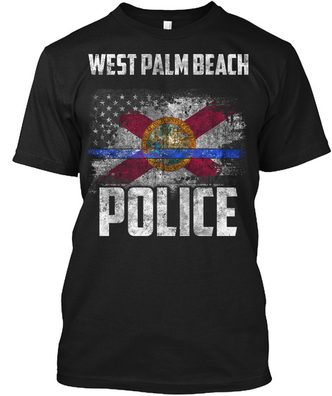 West Palm Beach Police Black T-Shirt Front