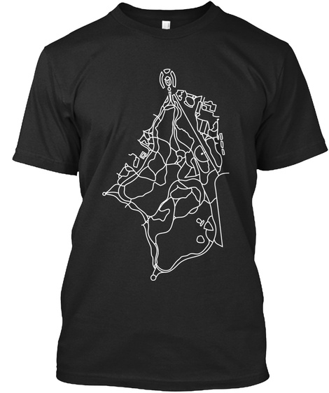 Walking Paths Of Prospect Park Black Camiseta Front